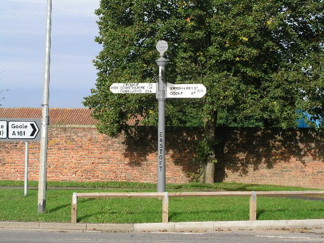 Old Village Signpost at Eastoft