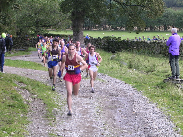 Fell Runners in Dovedale
