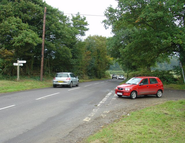 Junction of Green Lane and Horsham Road, between Horsham and Rusper, West Sussex