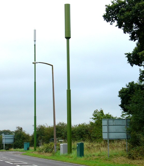 Mobile Phone masts near to A264 at the Rusper Road Roundabout.
