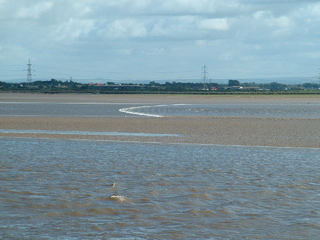 Incoming tide meets outgoing river....