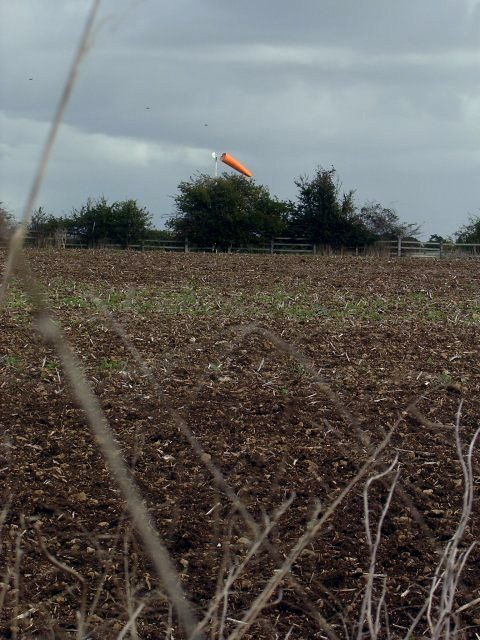 Wind sock at Abingdon airfield