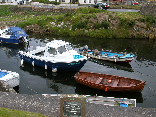 Boats in Blackwaterfoot Harbour, Isle of Arran