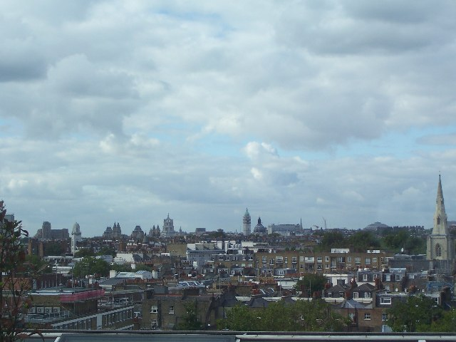 City scape from Victoria looking towards Hyde Park