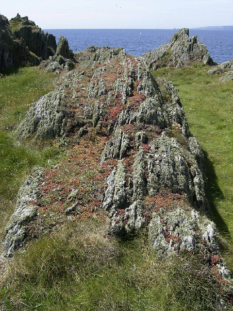 Vertical rock strata at Langness Point