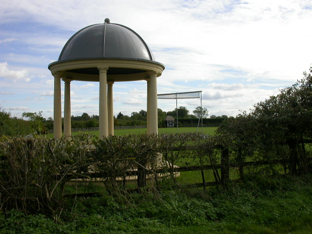 Cricket Ground with Gazebo.