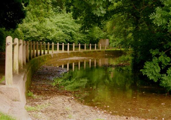 9 Mile River at the bridge on Durrington Road