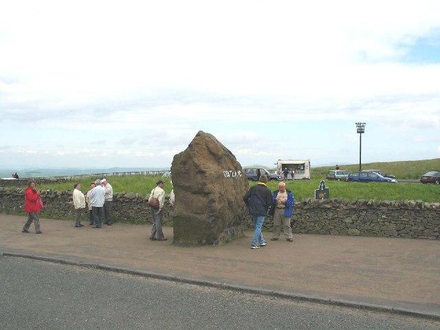 Scotland/England border Carter Bar 0n the A68.
