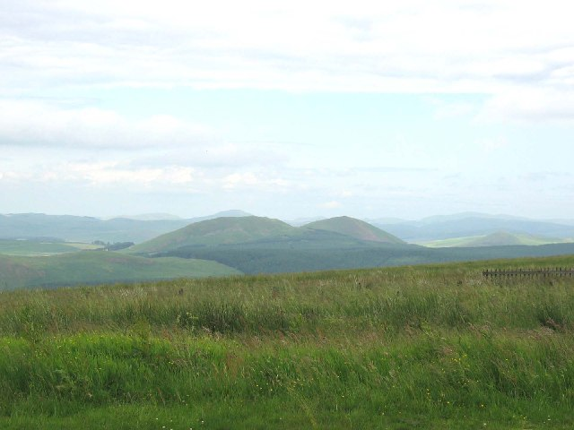 Knock hills from viewpoint Carter Bar on the A68.