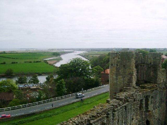 River Coquet and Warkworth Harbour from the Castle