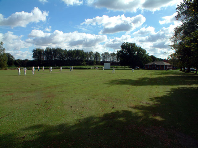 Cricket field at Newenden, Kent TN18