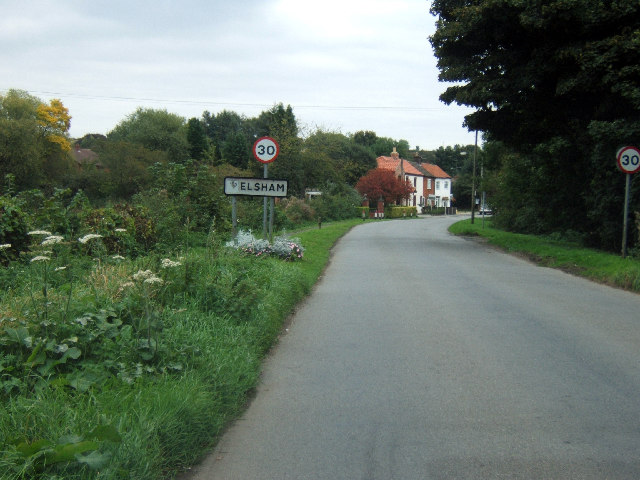 Entering Elsham