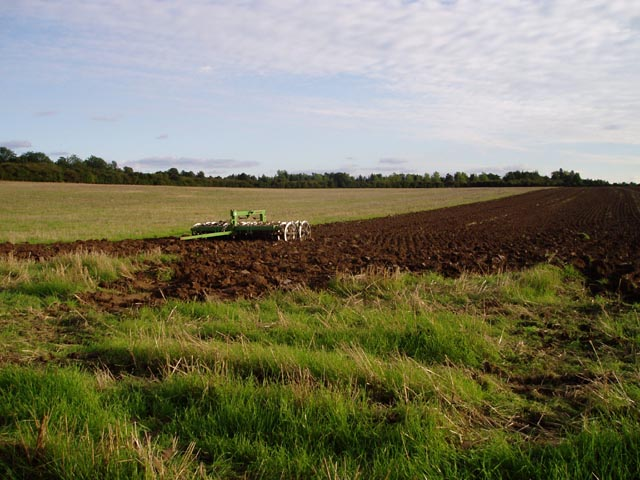 Partly ploughed field