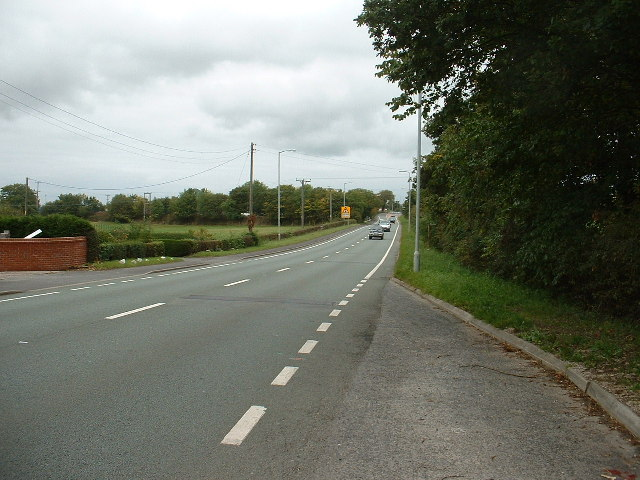 The A494 at Alltami