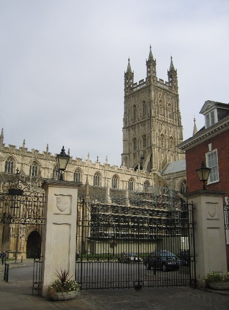 Gloucester Cathedral from King Edward's Gate