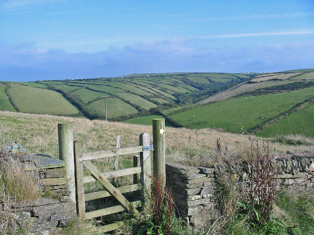 Footpath gate at Trevigue.