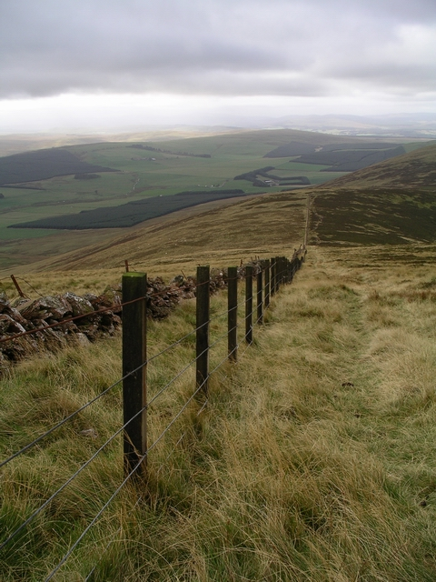 Fence and old wall, Tinto Hill