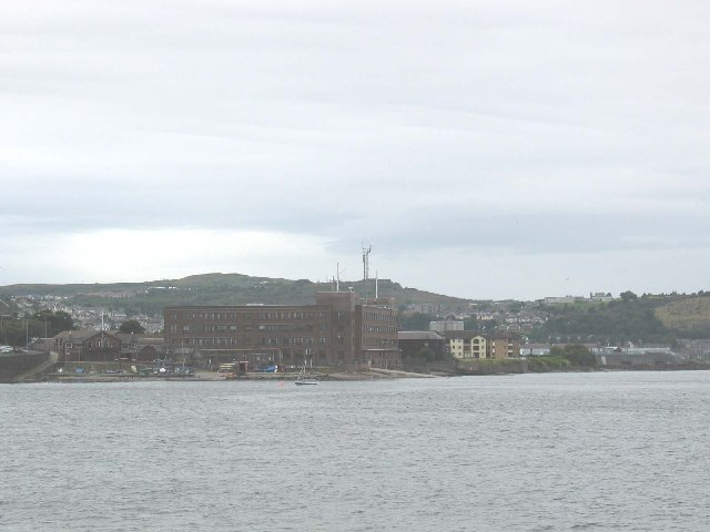 Coastguard Station and Naval building, Greenock, Firth of Clyde.