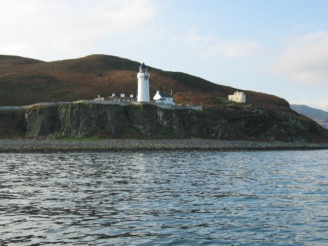 Davaar Island lighthouse by Campbeltown, Kintyre.