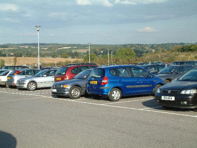Salisbury District Hospital, rear car park