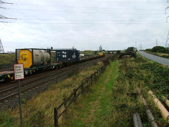 Freight Train Heading East towards Redcar