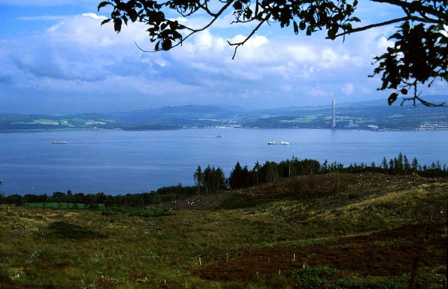 Firth of Clyde from hills above Innellan
