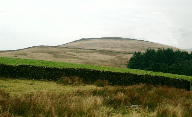 View toward anonymous trig point 314m (1035') on Wiswell Moor