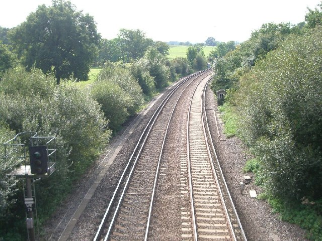 Railway line south of Oxshott