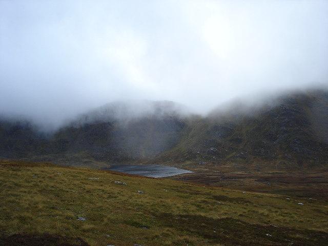 Lochan Coire an Lochain east of Stob Coire Sgriodain