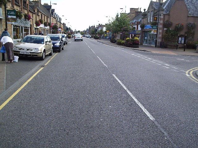Alness High Street Looking East