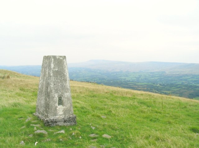 Trig point on Trichrug