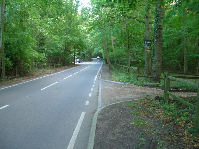 Old Lane, at the entrance to Barnsthorns (right)