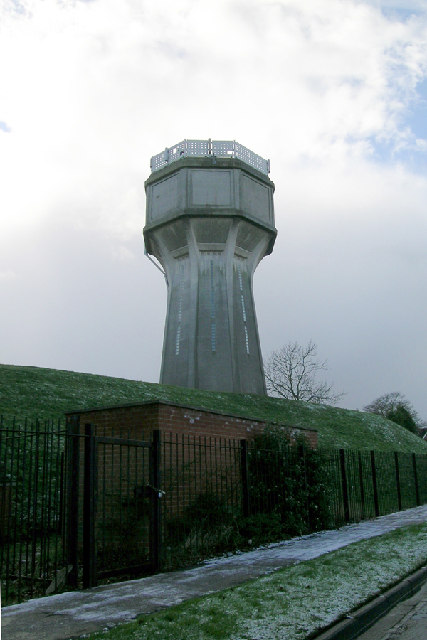 Water Tower at Park Road, north of Christchurch Park, Ipswich