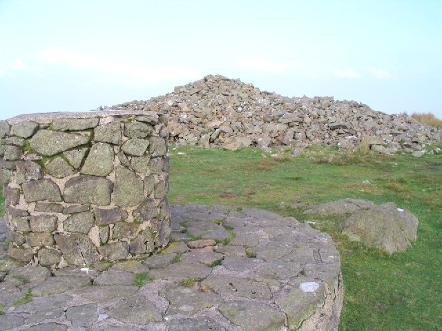 Summit cairn on Foel Eryr