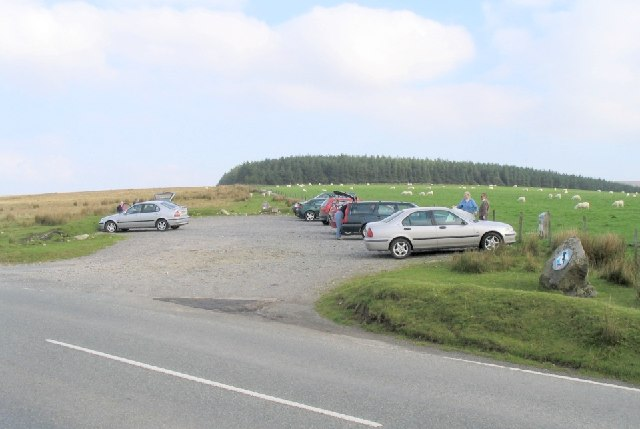Mountain car park in the Preselis