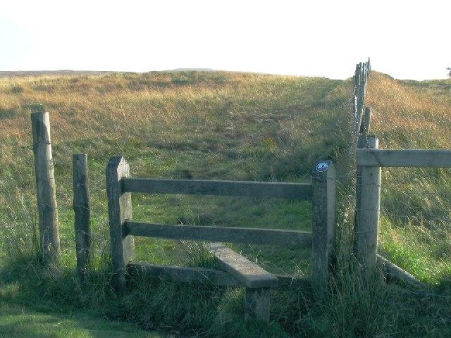 Stile on the north approach to Foel Cwmcerwyn