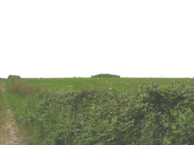 Ballaradcliffe burial mound, Andreas