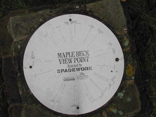 Direction Plate on Maplebeck Viewpoint