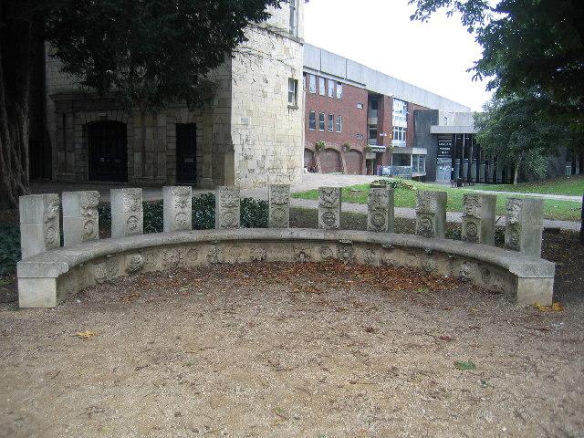 Semi-circular seat, St Mary de Crypt Churchyard, Gloucester