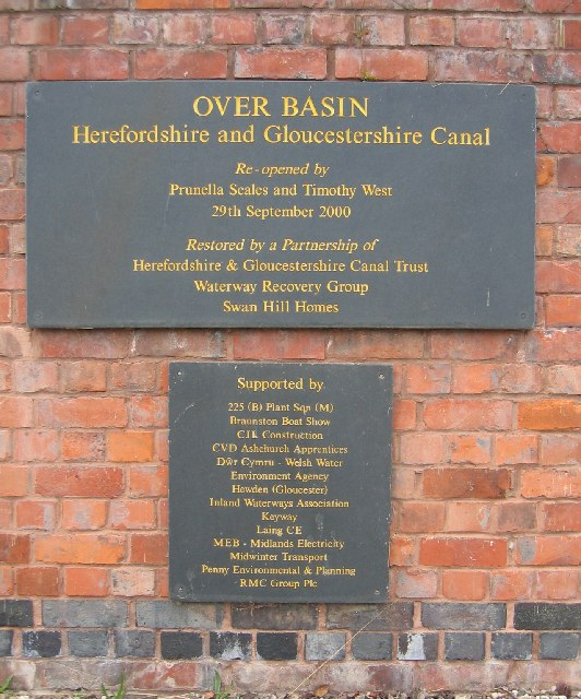 Plaque at Over Basin