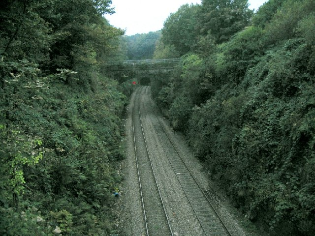 Railway line at Cwmrhydyceirw