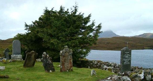 Cemetery at Elphin, Highland