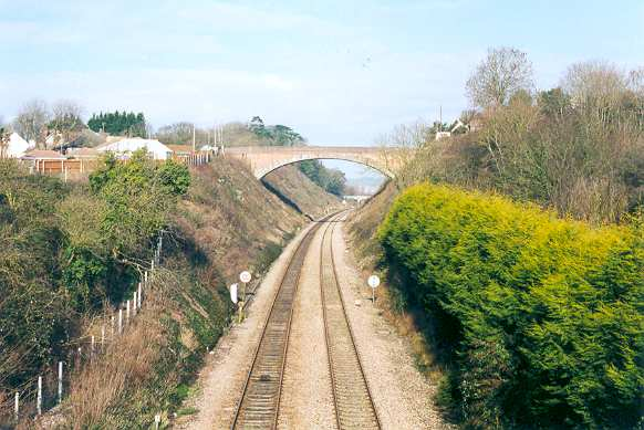 Railway cutting at Bleadon, North Somerset
