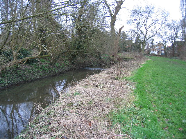 River Pinn. looking towards Swakeleys Road, Ickenham