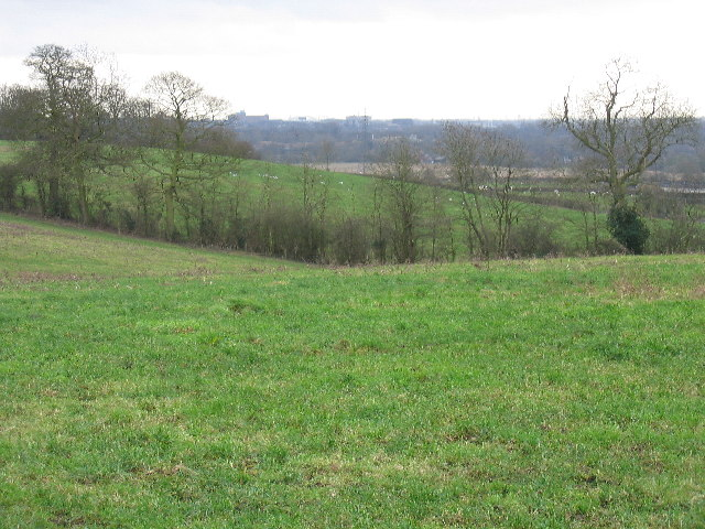 Farmland, with Uxbridge on the horizon