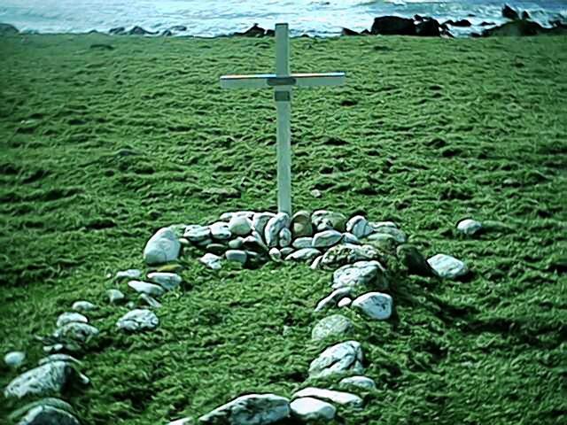 Sailor grave Innean Bay, Mull of Kintyre.