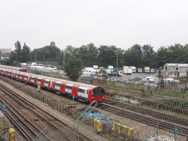 Underground trains near Neasden Station