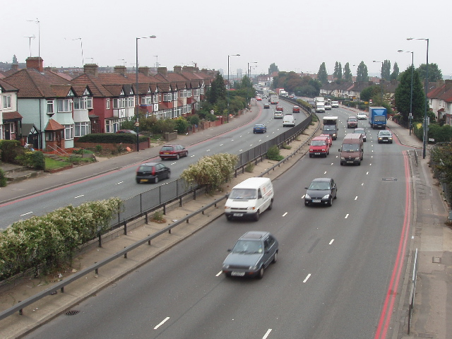 A406 North Circular at Neasden