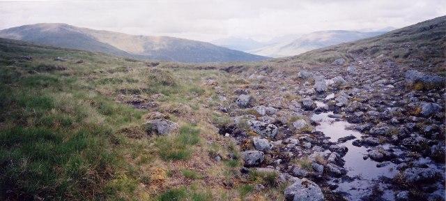 Bealach nan Sgor, looking north west