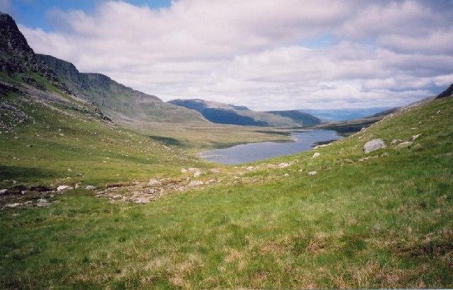 Bealach Breabag with Loch a Bhealaich Beithe